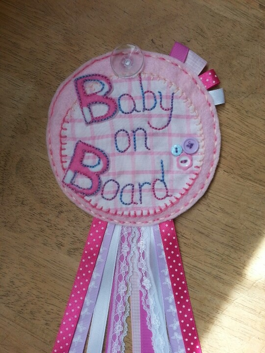 Baby on board rosette to hang in your car