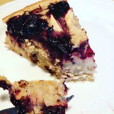 Torta di Grano Saraceno con mele mirtilli. Senza Glutine. Senza Zucchero.