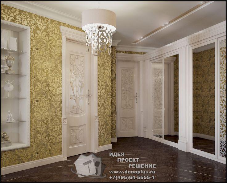Обои для прихожей. Фото в интерьере  http://www.decoplus.ru/kak-vybrat-oboi-dlya-prihozhey-i-koridora