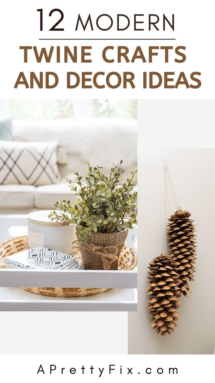 12 Modern Twine Crafts Decor Ideas A Pretty Fix Twine Crafts Twine Crafts Diy Twine