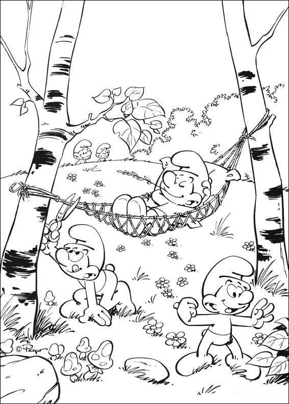 Dibujos para Colorear. Dibujos para Pintar. Dibujos para imprimir y colorear online. Pitufos 10