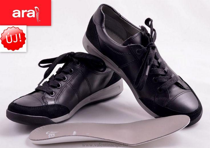 Ara fűzős női félcipő cserélhető talpbetéte párnázott, így magas fokú kényelmet és stabilitást biztosít járás közben :) http://valentinacipo.hu/a…/noi/fekete/zart-felcipo/137887139 #ara #ara_cipők #ara_cipőbolt #Valentina_cipőbolt