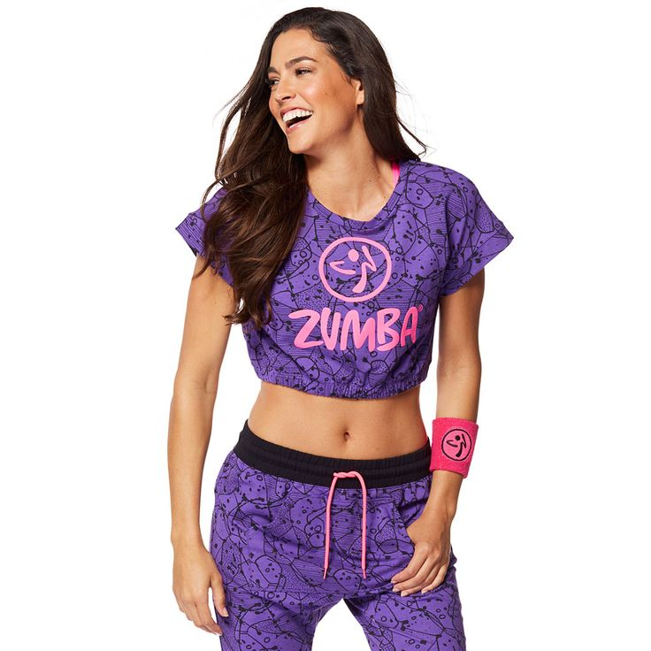 BE BOLD BUBBLE CROP TOP - GALAXY ------------------------------------ Break the mold in the Be Bold Bubble Crop Top! All over lightweight French terry fabric combined with a cropped silhouette makes for one sizzling summer top! Zumba Crop Top.