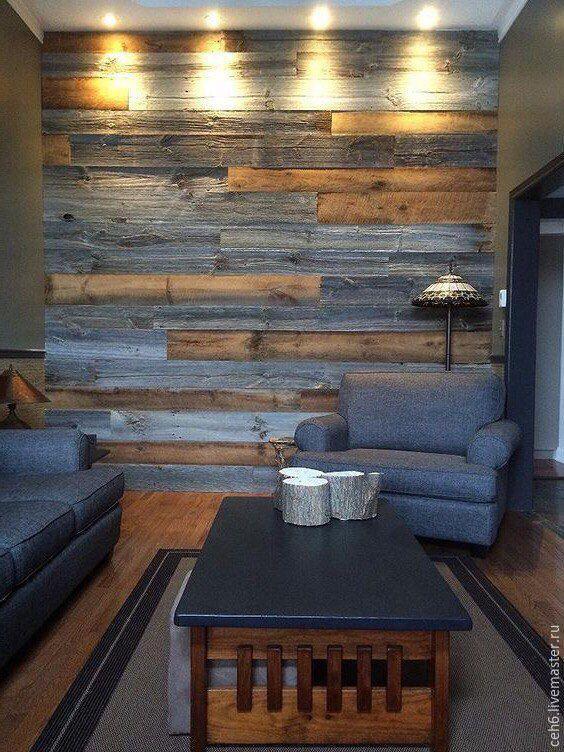 Купить Облицовка досками стен - коричневый, амбарная доска, доска декоративная, стены, декор стен