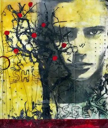 She See by Susan Ukkola Encaustic Image Transfers