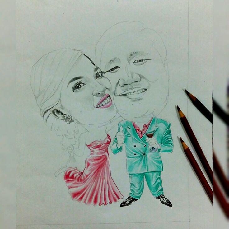 #Caricature #Karikatur #wedding #gift #anniversary #birthday #Jakarta #Medan #Indonesia #Order Follow my Instagram : rookuli_art FB : Rokalih Inna Parrantangan