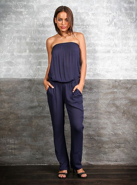 Take your new season style up a notch in #Buddhawear's strapless 'Charlotte' Jumpsuit. Made from a Rayon High Twist fabric, with an elastic waist and straight fitting leg. Pair with sandals or heels to get the look you after. This stylish #jumpsuit is available in Sapphire and Zick Zack. Now AU$104.90 #online   #ethicalfashion #womenclothing #trends