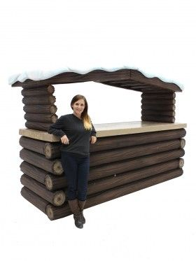 Log Fronted Bar (Snowy Roof)