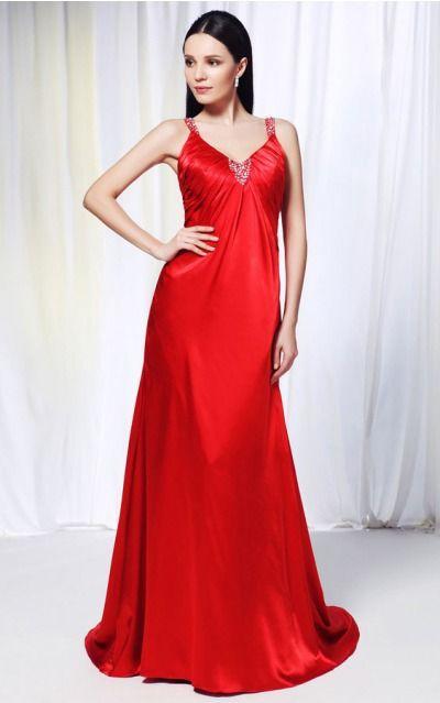 Satin Spaghetti Straps Natural A-line Floor-length Bridesmaid Dresses 0190421