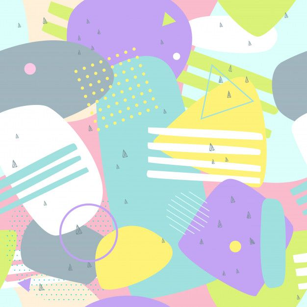 Abstract Background Memphis Style Colorful Premium Vector