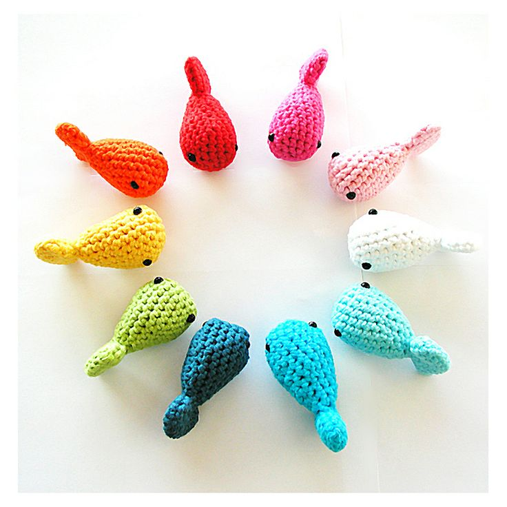Free Crochet Fish Pattern.  Just had an idea... A music box for every child in the class. Have a toy or laminated picture representing each song. They can add a new one to the box every time they learn a new song.