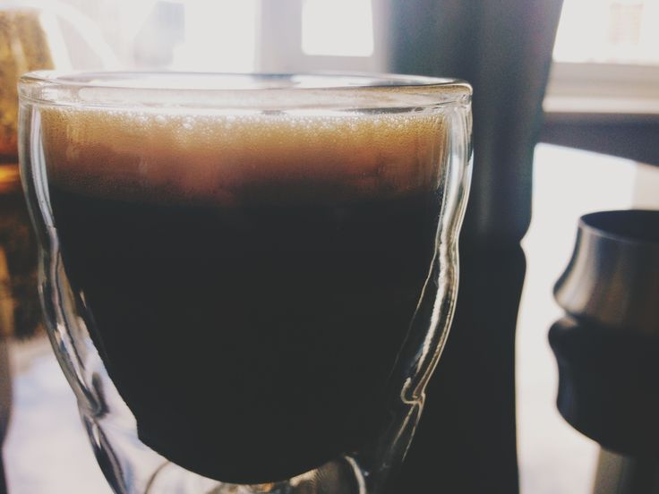 Shakerato: A flavorfully bold, cocktail inspired iced espresso drink.  You need •espresso machine  •favorite coffee  •4 tsp simple syrup •cocktail shaker with ice •endurance.  Directions •pull 2 espresso shots •pour into ice filled cocktail shaker •add simple syrup •shake vigorously for 15 seconds •strain/pour, and enjoy immediately. When shaken properly, you will get a beautiful foam on top which mimics crema. This froth is key to capturing the roasty sweetness of the espresso.