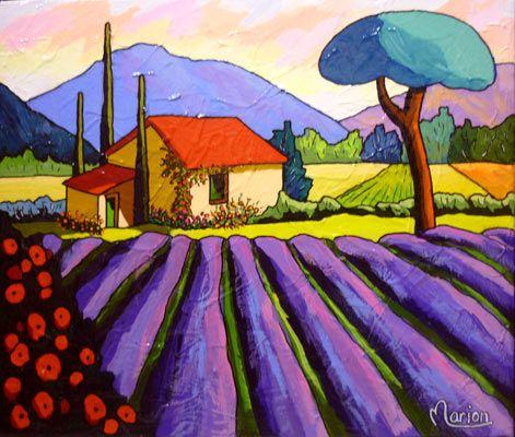 Louise MARION , Artiste peintre , Québec, CANADA --