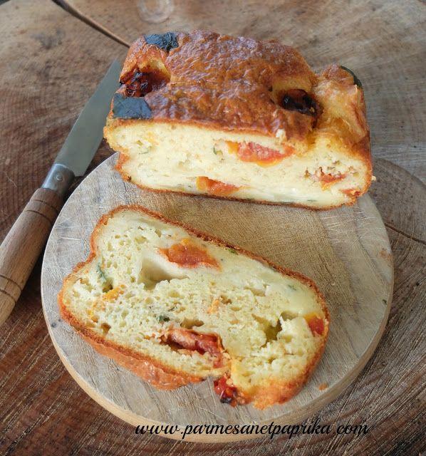 Cake Mozzarella Basilic Tomates via la balance Tefal Cooking Connect