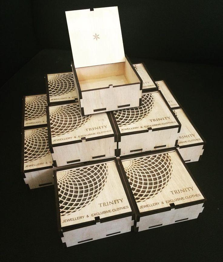 Коробочки из фанеры для ювелирной продукции. #lasercut #decor #design…