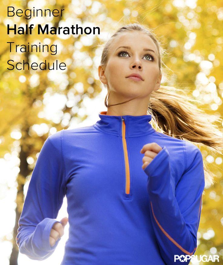 16-Week Beginner Half Marathon Training Schedule...I kinda wanna try something like this.