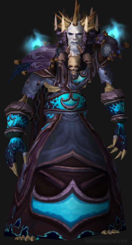 Undead Male Frost Mage Artifact Transmog WoW