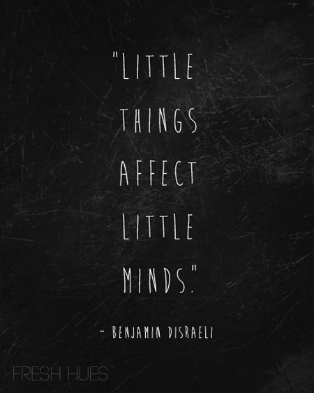 a word on little things