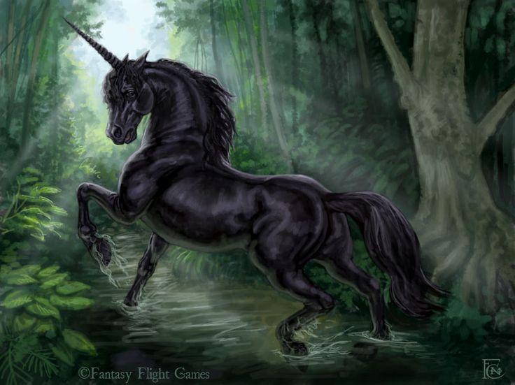 Black Unicorn by feliciacano.deviantart.com