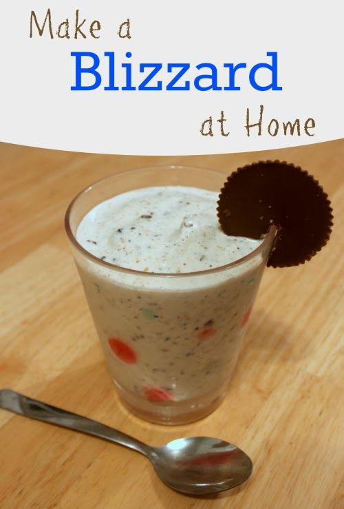 Make a Blizzard at Home www.thecraftyblogstalker.com