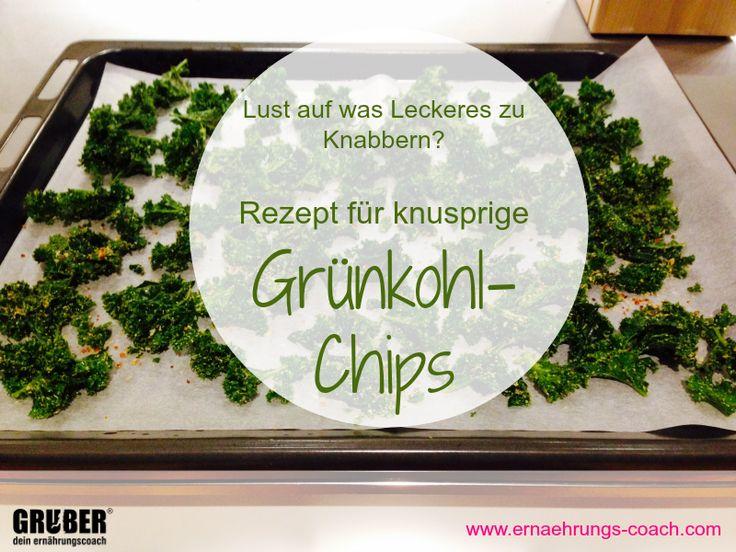 Grühkohl Chips sind ein super Snack und auch ein tolles Angebot für Gäste (statt Transfett-beladene Kartoffelchips)