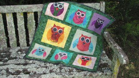 This is so pretty! owl-quilt-made-using-carols-quilts-owl-acrylic-templates