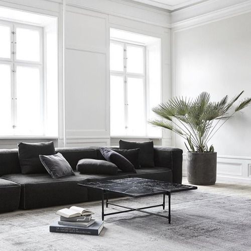 Simple living room with statement pieces