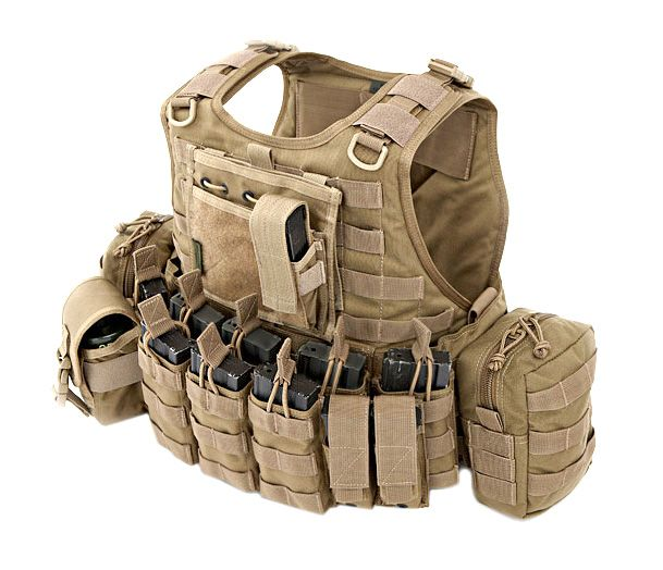 More advanced chest rig.  Warrior R.I.C.A.S. Comp DA 5.56 Plate Carrier
