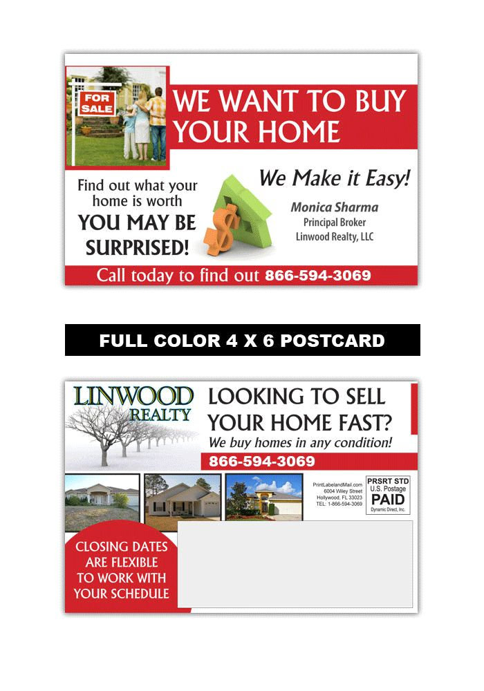 8 best Real Estate Postcard Samples images on Pinterest Postcard - postcard format template