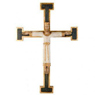 Crocefisso Sacerdote e Re bianco croce verde | vendita online su HOLYART