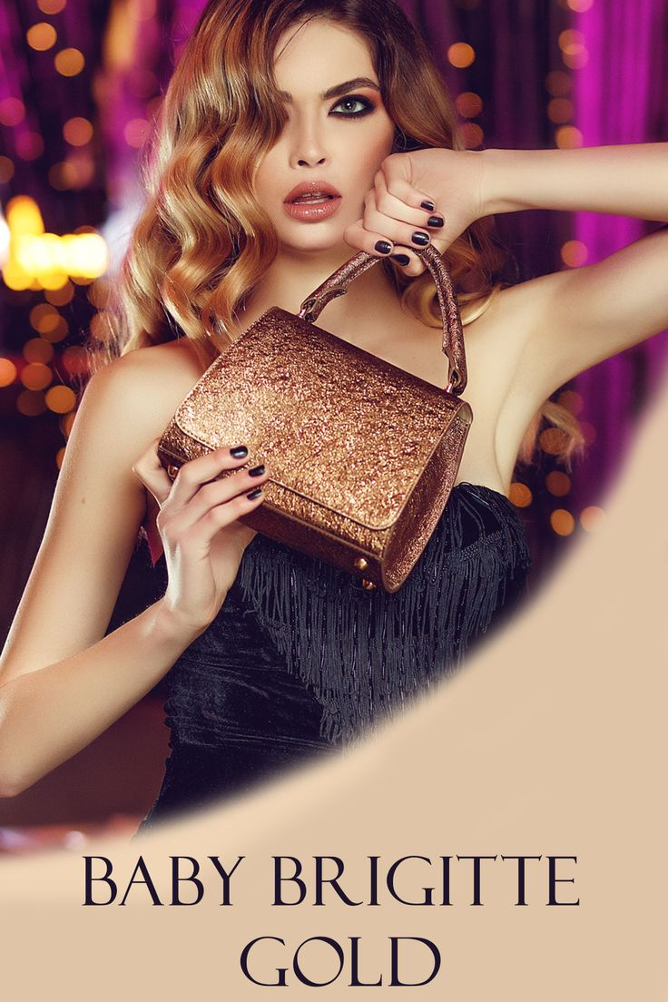The gold Baby Brigitte bag is made of natural leather with stropicciato effect @comenziwildinga