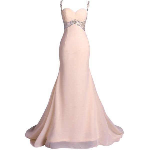 Lisa Sweetheart Long Prom Dresses Mermaid Evening Gown LS064 ($89) ❤ liked on Polyvore featuring dresses, gowns, long prom gowns, pink dress, long pink dress, pink evening dress and long ball gowns