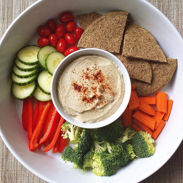 Quinoa Flatbread (quinoa flour + flaxseed meal) and Baba Ganoush ...
