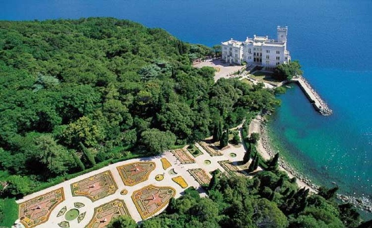 Castello di Miramare and its park, Trieste, Italy
