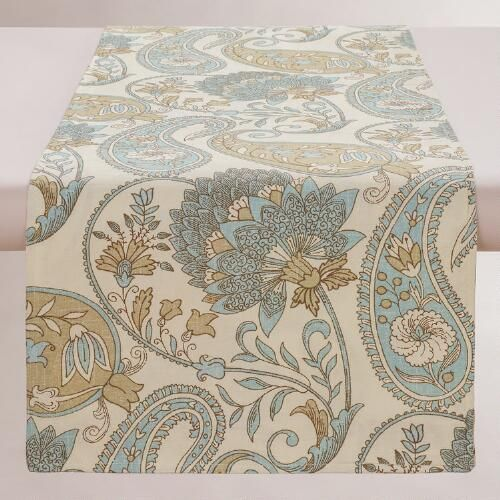 Blue Floral Paisley Table Runner Table Runners Of And World