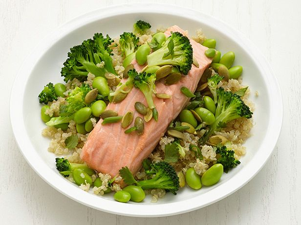 Green Tea Salmon with Quinoa from FoodNetwork.com