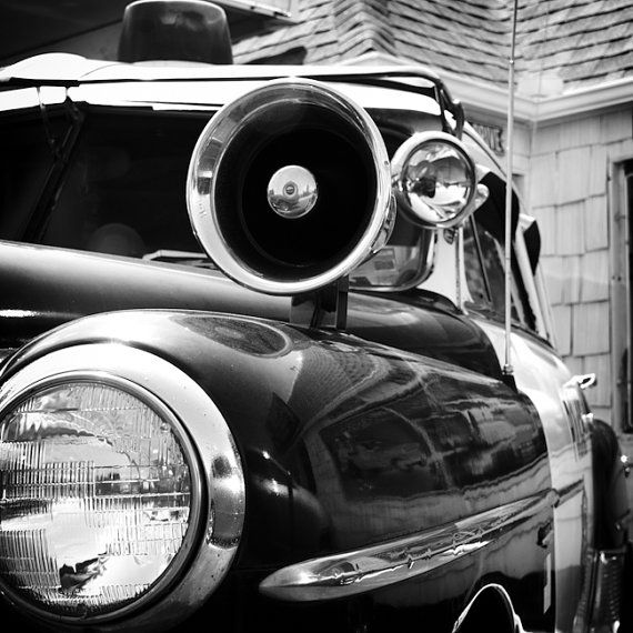 Police Car Vintage Oklahoma City  Fine Art by DDubPhotog on Etsy, $30.00