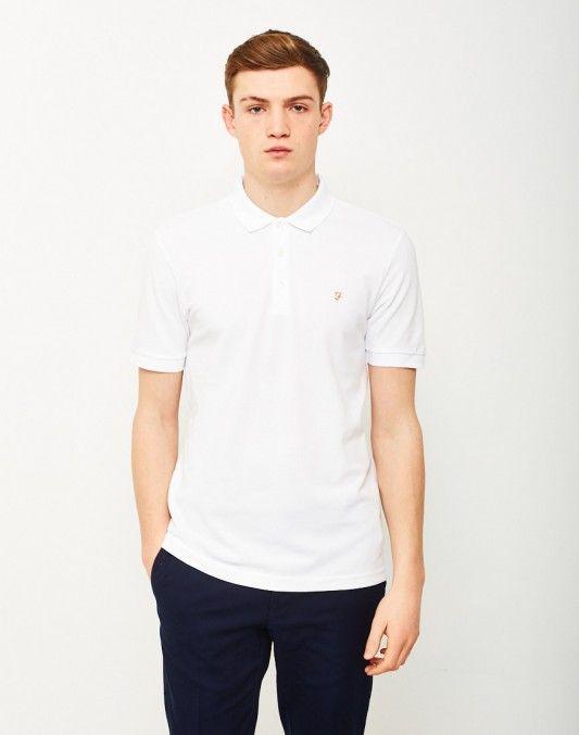 Farah Blaney Short Sleeve Polo Shirt White #StyleMadeEasy