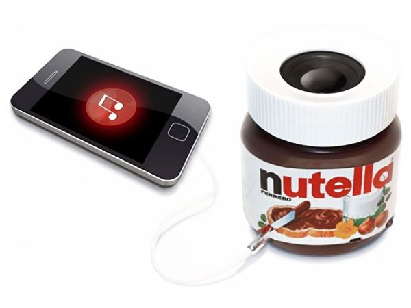Nutella Bluetooth Speaker for iPhone: De Nutella, Bluetooth Speakers, Boombox Ferrero, Geek Stuff, Boombox Nutella, De Pots, Del Nutella, Nutella Boombox, Nutella Bluetooth