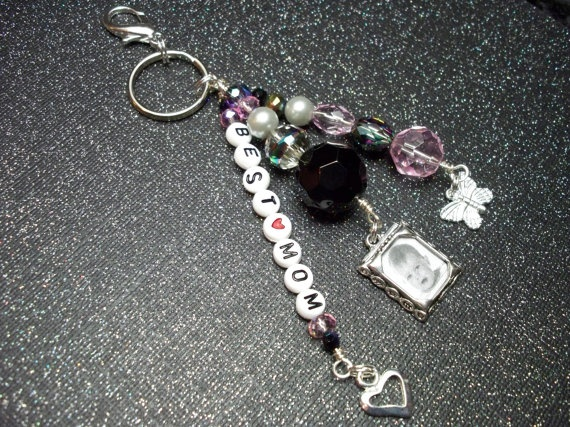 Best Mom Pink Key Chain/Purse Charm by debkcreations on Etsy, $8.50