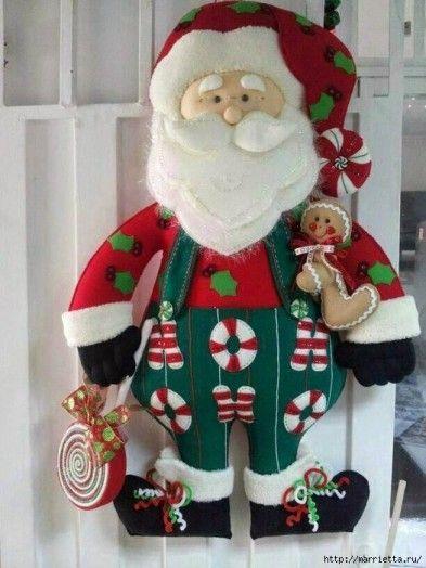 Санта Клаус из фетра | БЛОГ ДОМОХОЗЯЙКИ