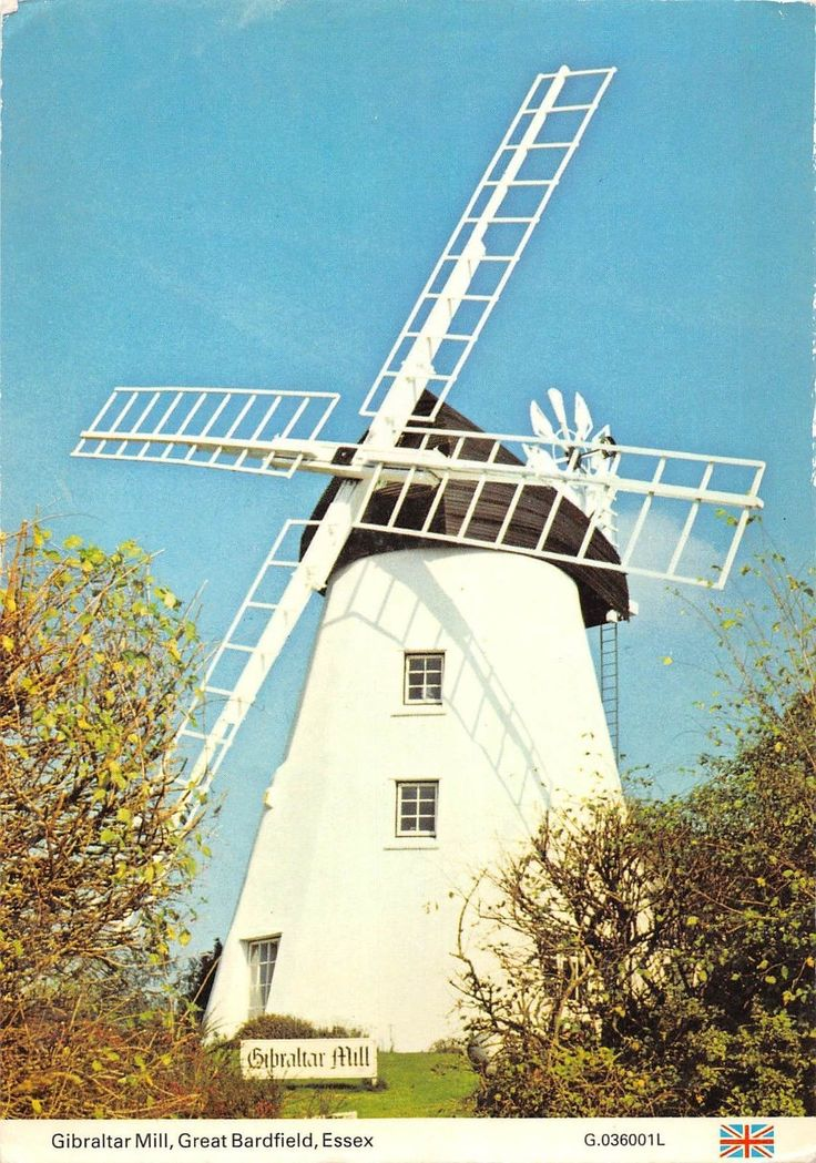 BT1270 gibraltar mill great bardfield essex moulin a vent windmill mill uk | eBay