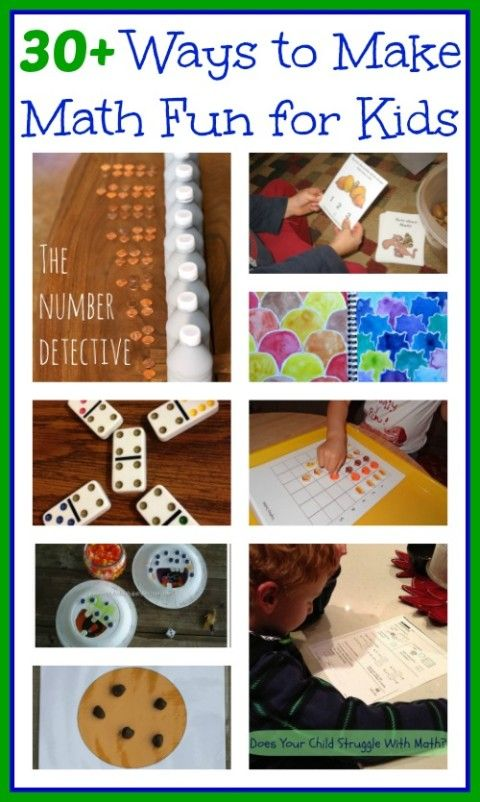 30 ways to make math fun for kids - hands-on math activities