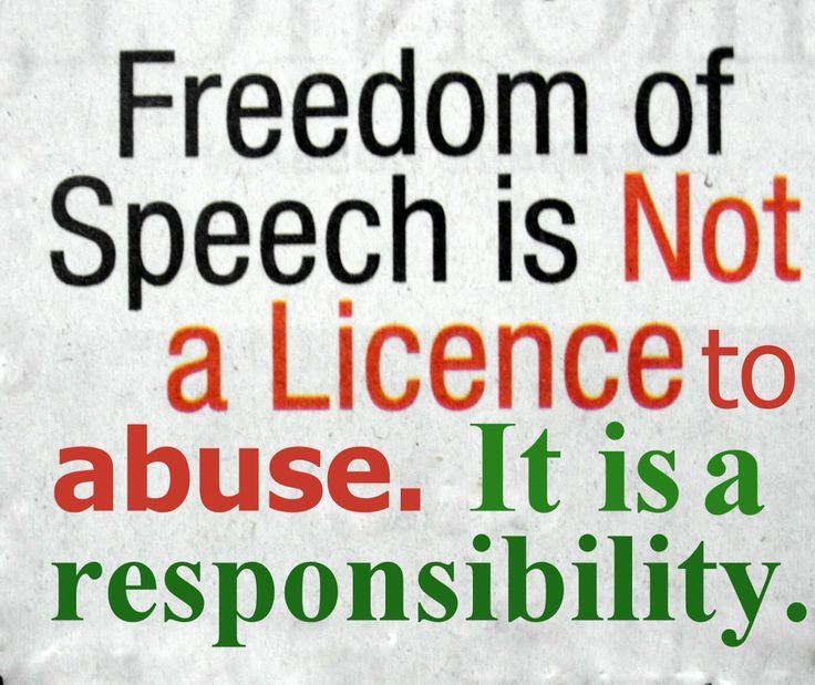 Freedom Of Speech Quotes Fair 27 Best 9Th 5Thshould We Have Limitations On Freedom Of Speech . Review