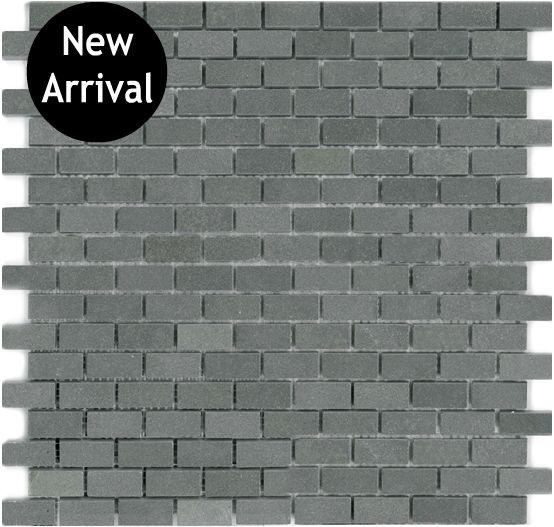 Basalt Mini Brick Mosaic X Mesh Mount Sheet Granite Tile