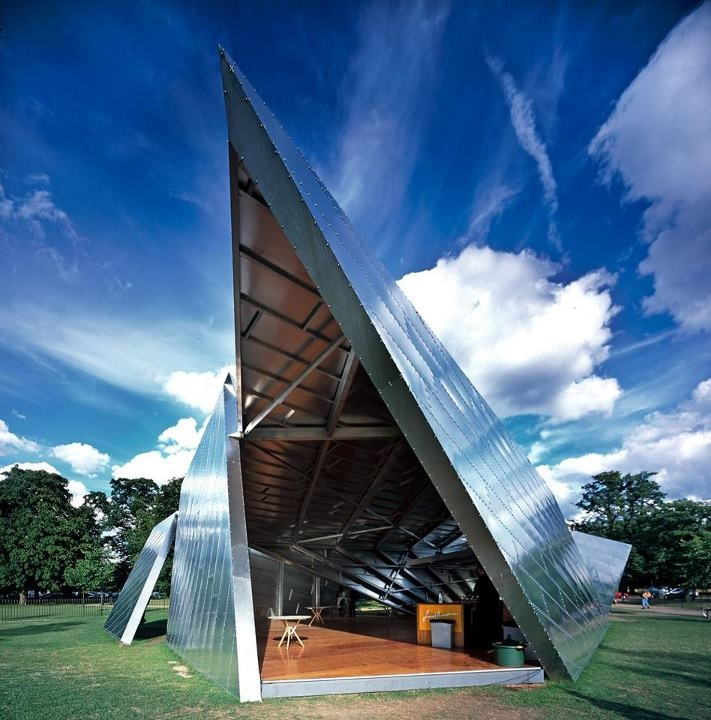 Serpentine gallery pavilion 2001 by daniel libeskind for Daniel libeskind architectural style