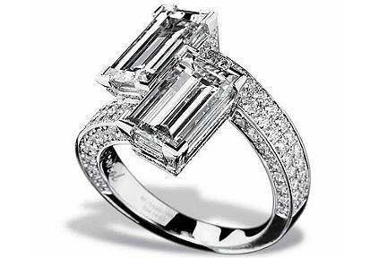 Chopard, anello di lusso in platino e diamanti