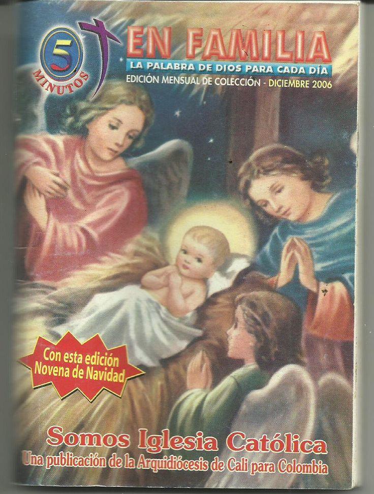 Imagen de la Adoración de los Ángeles al Niño Dios en la portada del libro 5 minutos de oración en familia diciembre  2006