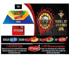 Fan Pit tickets for Guns and Roses for Sale in Dubai