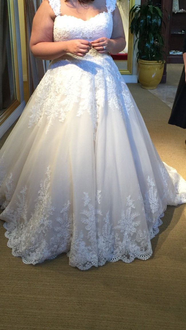 Pretty plus size lace wedding dresses like this can be made for you with any cusrom changes. We also make #replicas of haute couture #weddingdresses that will look similar to the original but coat way less. For pricing please email us directly. Dariuscordell.com